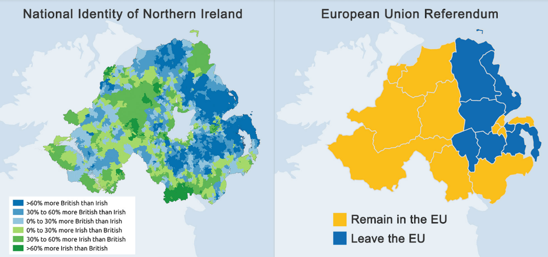 Map Of Northern Ireland And Ireland.Brexit And The Irish Border Let Northern Ireland Decide Karl Whelan
